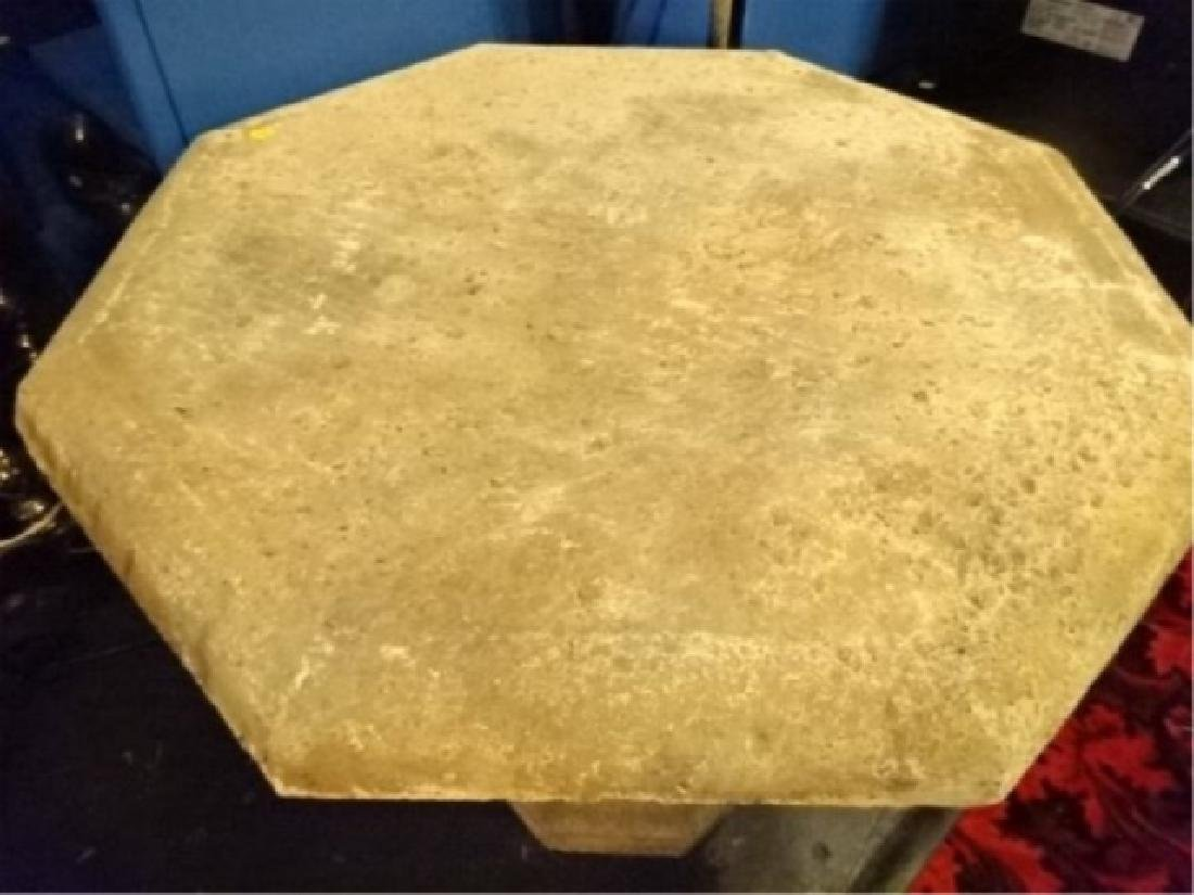OCTAGONAL STONE TABLE, VERY GOOD CONDITION, APPROX - 2