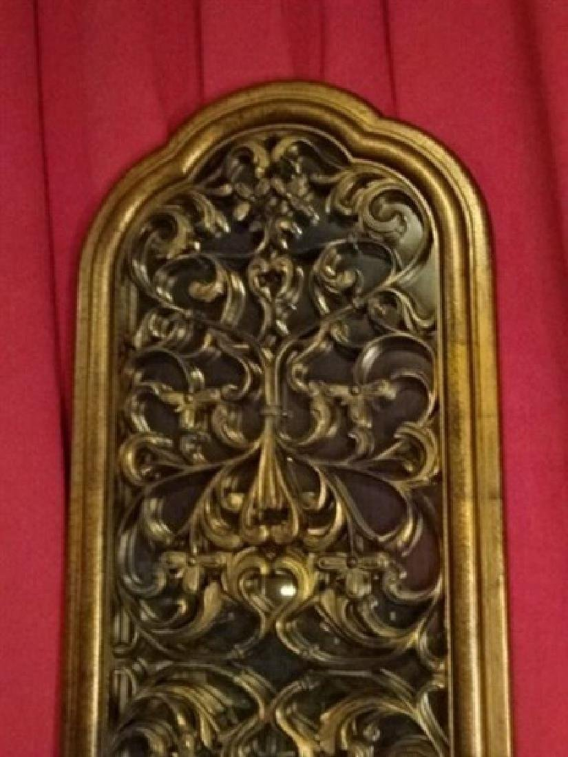 LARGE WALL MIRROR WITH VINES AND LEAVES, GOLD FINISH - 2