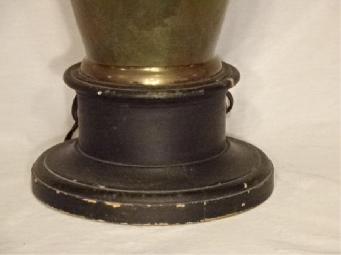 ART NOUVEAU STYLE LAMP, METAL URN FORM BASE WITH - 5