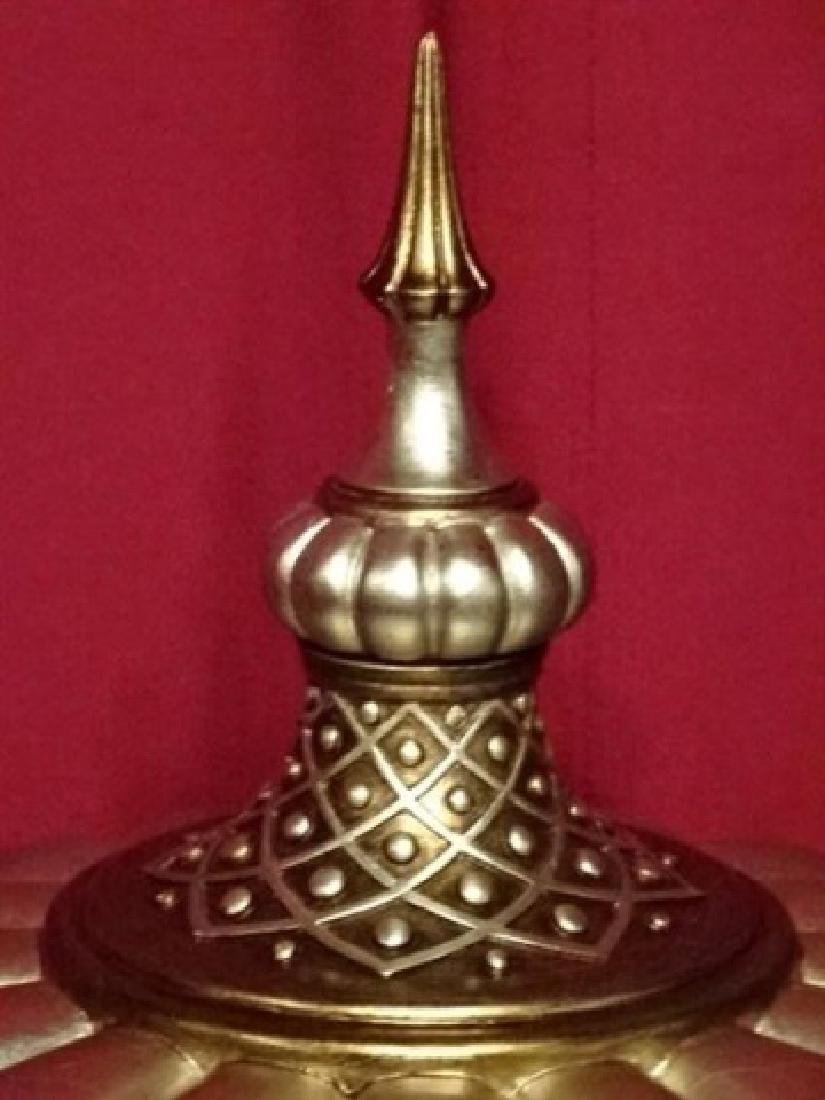 LARGE SILVER AND GOLD FINISH URN, COMPOSITE BASE WITH - 4