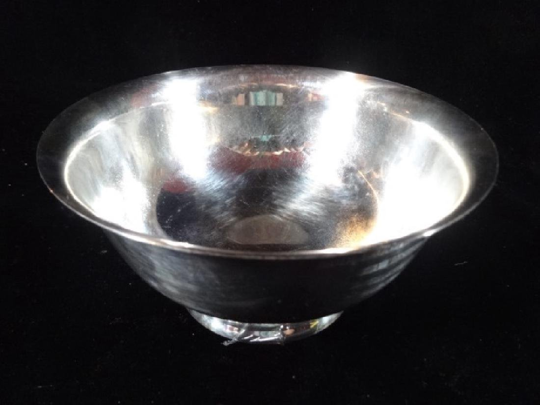 2 PC SILVERPLATE OVAL LIDDED BOWL AND ROUND BOWL, VERY - 4