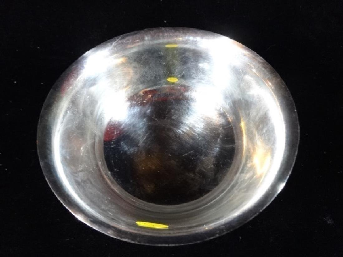 2 PC SILVERPLATE OVAL LIDDED BOWL AND ROUND BOWL, VERY - 5