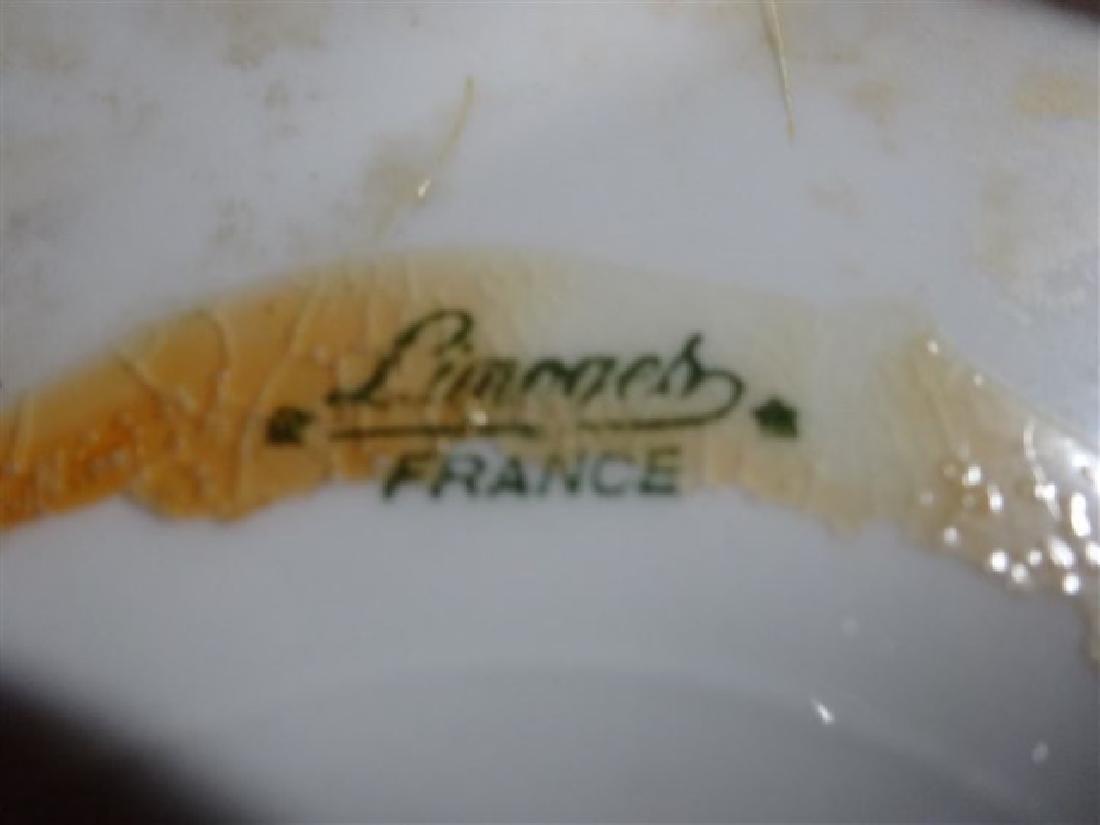 2 LIMOGES FRANCE PORCELAIN SERVING PLATES, PAINTED - 5