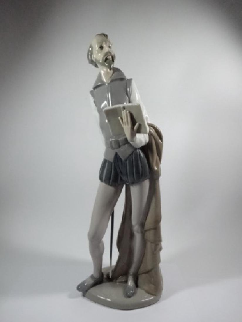 NAO BY LLADRO DON QUIXOTE READING BOOK PORCELAIN - 3