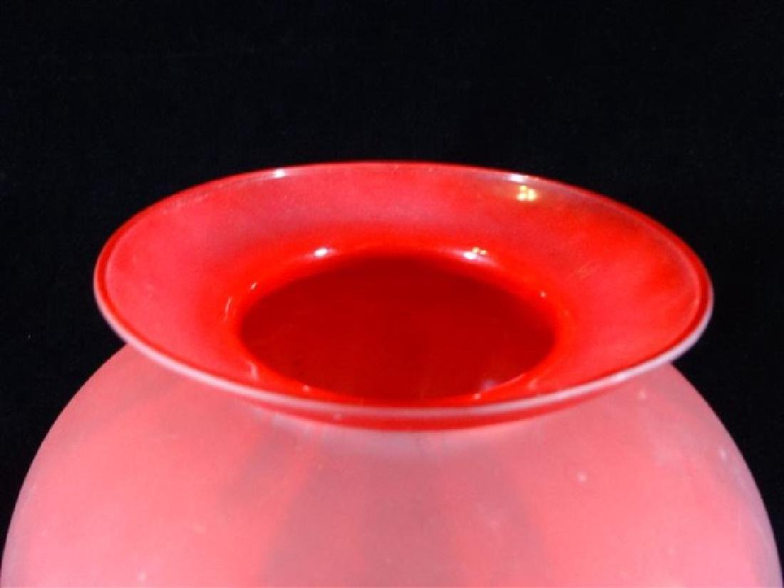 """RED GLASS VASE, VERY GOOD CONDITION, 10"""" X 9"""", - 2"""