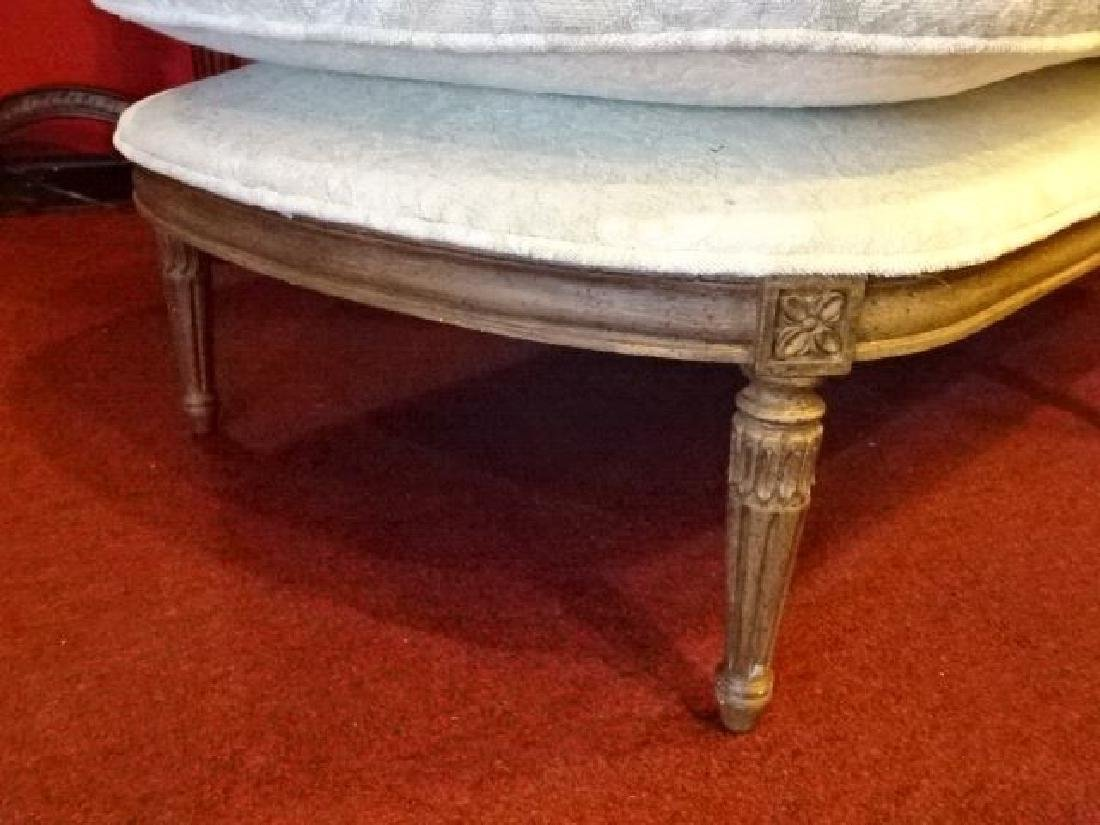 LOUIS XVI STYLE CHAISE LOUNGUE, MEDIUM FINISH CARVED - 5