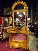 FRENCH EMPIRE STYLE CONSOLE TABLE AND MIRROR GILT