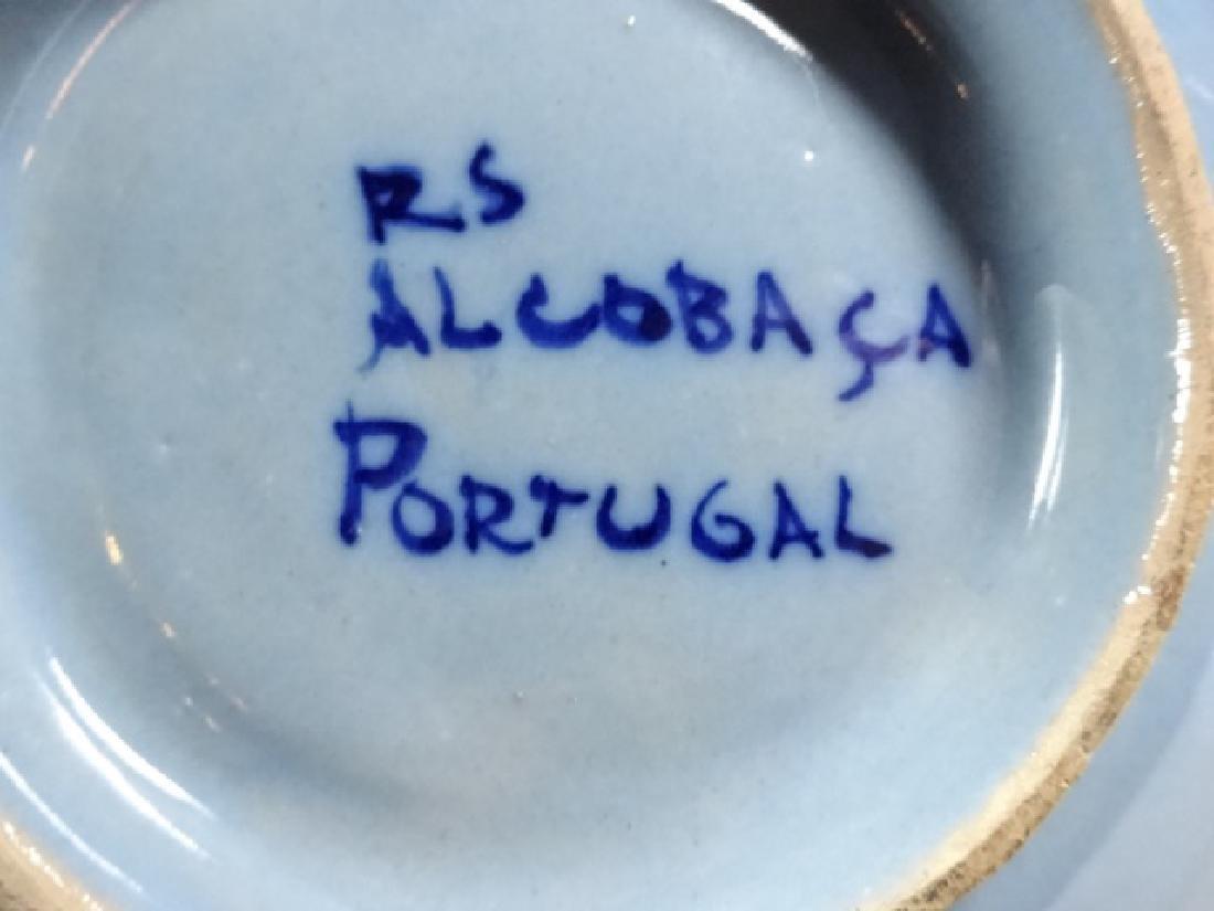 9 PC RS ALCOBACA PORCELAIN PLATES, FLORAL DESIGN WITH - 5