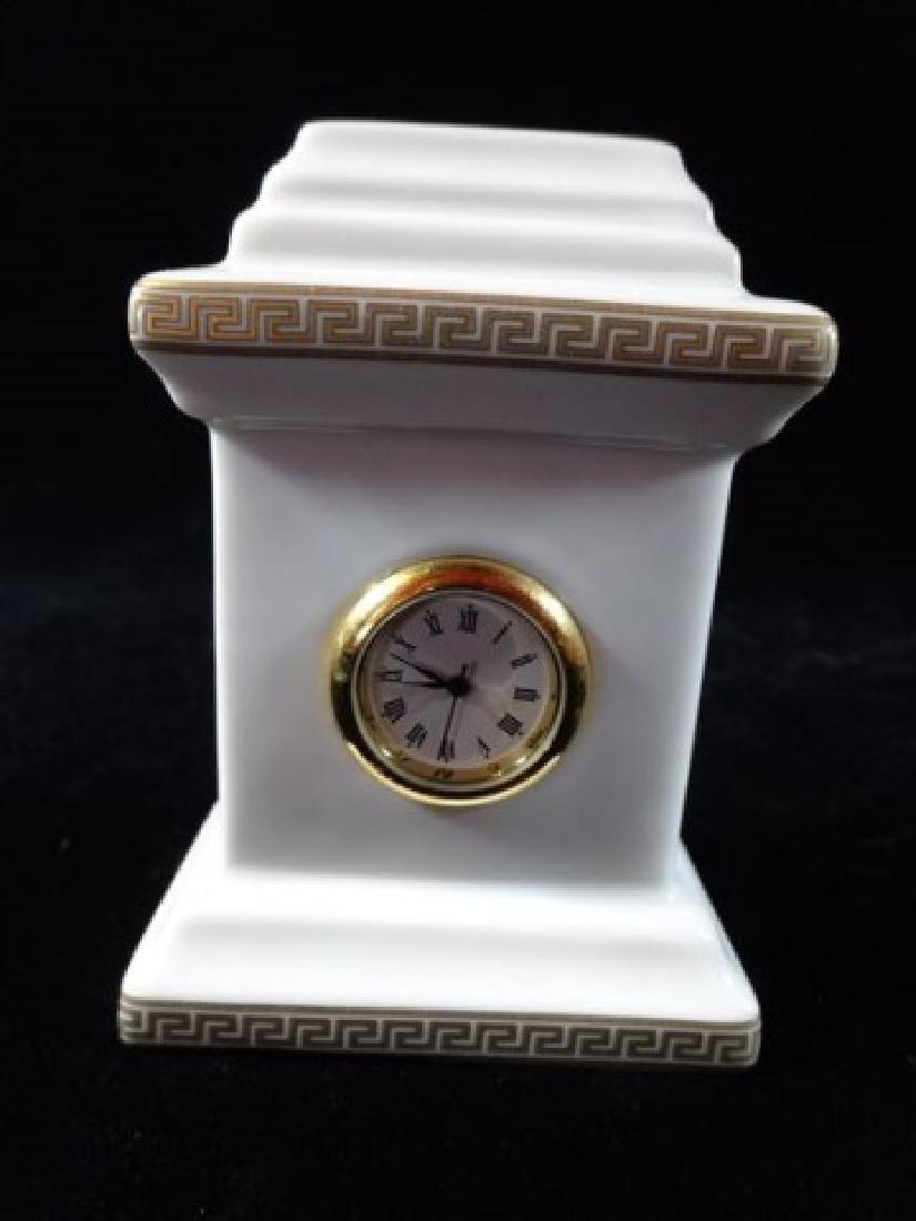 VERSACE ROSENTHAL PORCELAIN GORGONA CLOCK, WHITE