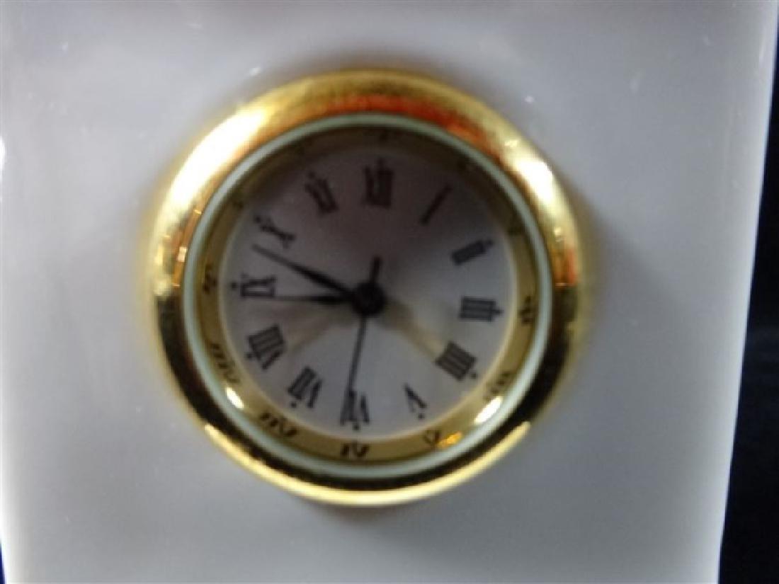 VERSACE ROSENTHAL PORCELAIN GORGONA CLOCK, WHITE - 2