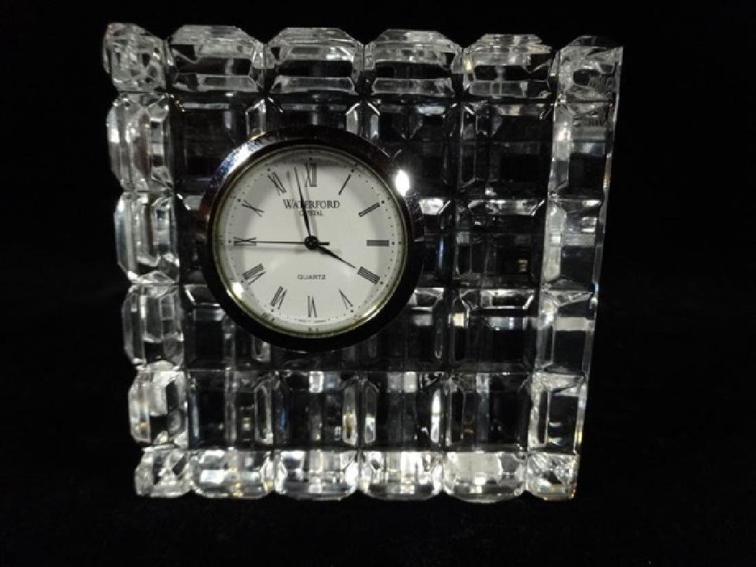 "WATERFORD CRYSTAL CLOCK, VERY GOOD CONDITION, 3.5"" X"