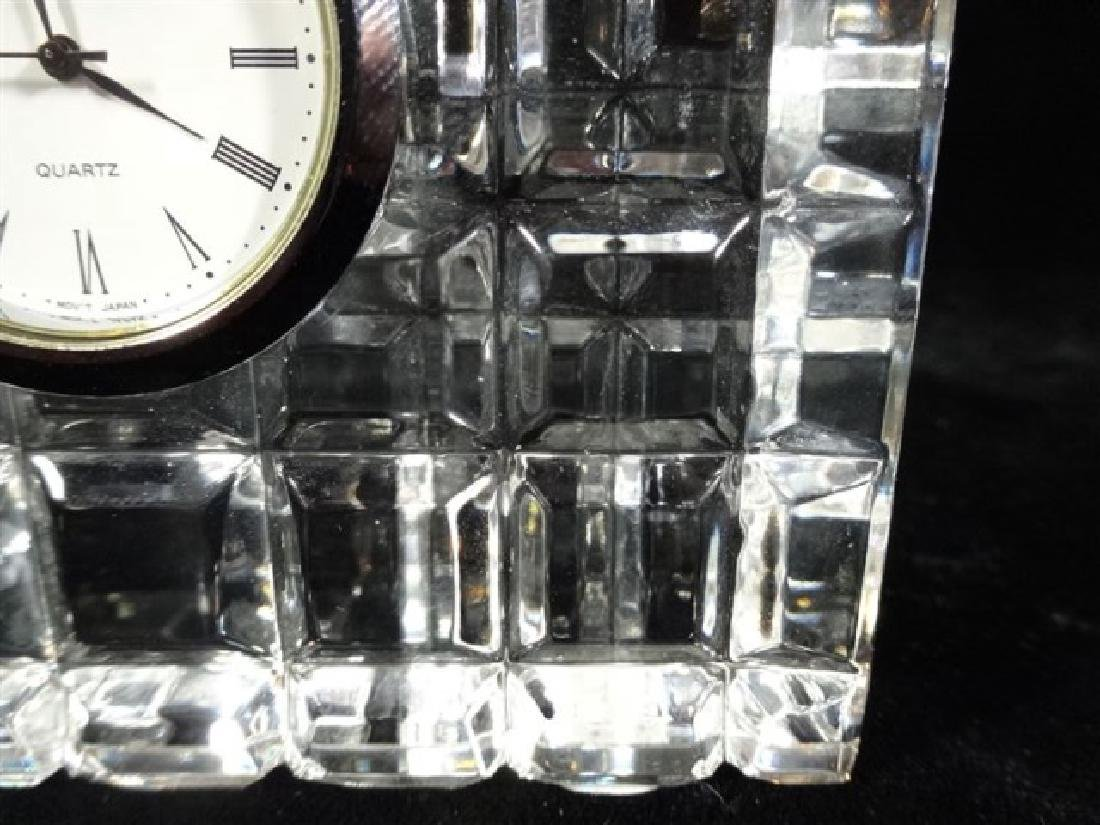 "WATERFORD CRYSTAL CLOCK, VERY GOOD CONDITION, 3.5"" X - 2"