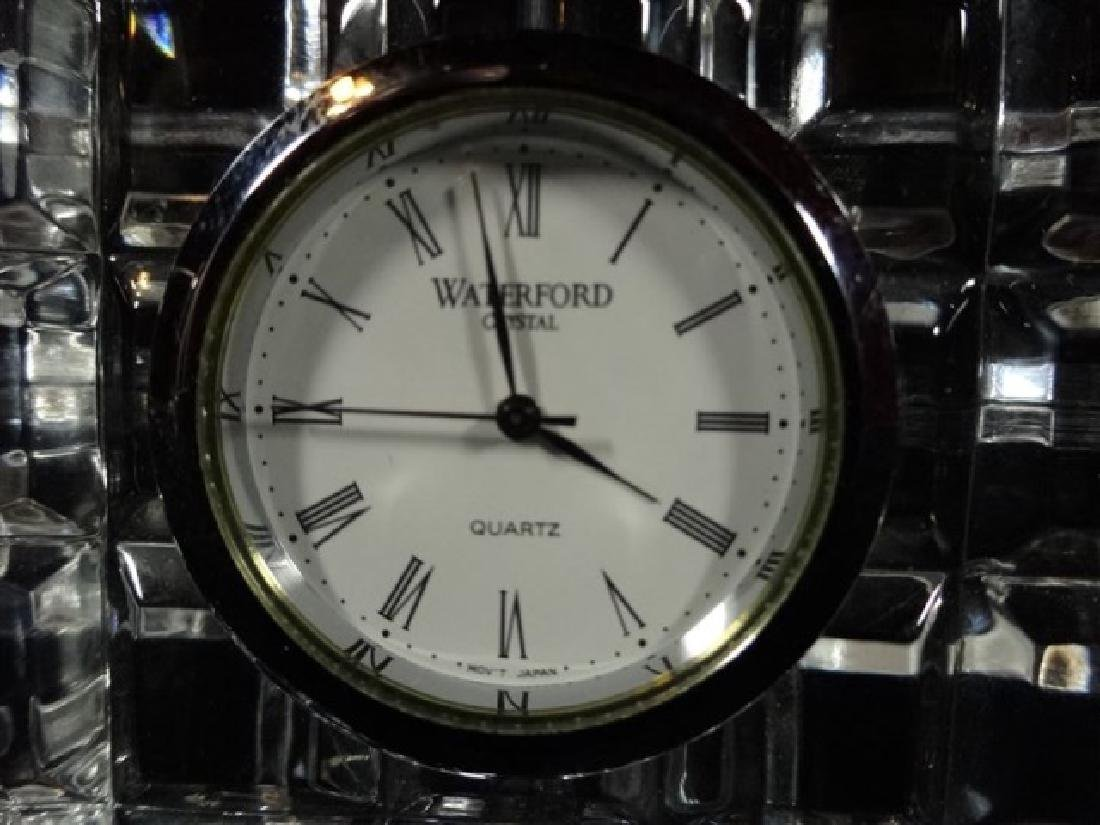 "WATERFORD CRYSTAL CLOCK, VERY GOOD CONDITION, 3.5"" X - 3"