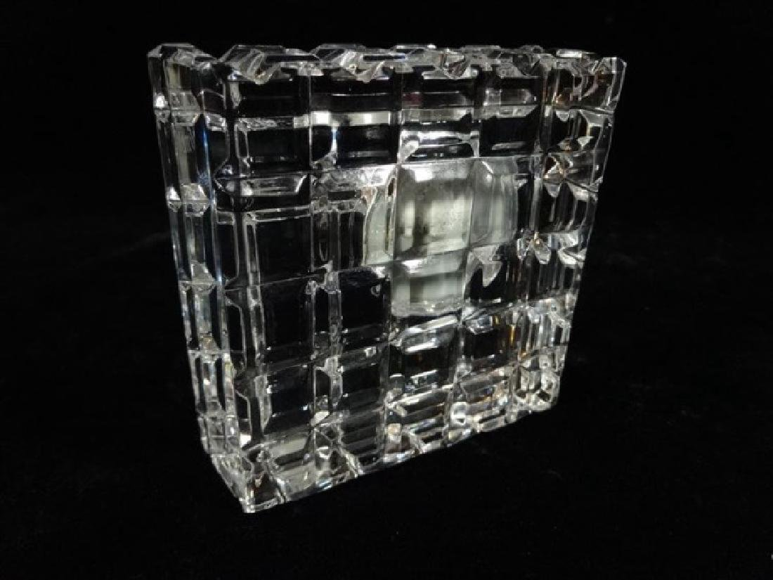 "WATERFORD CRYSTAL CLOCK, VERY GOOD CONDITION, 3.5"" X - 4"
