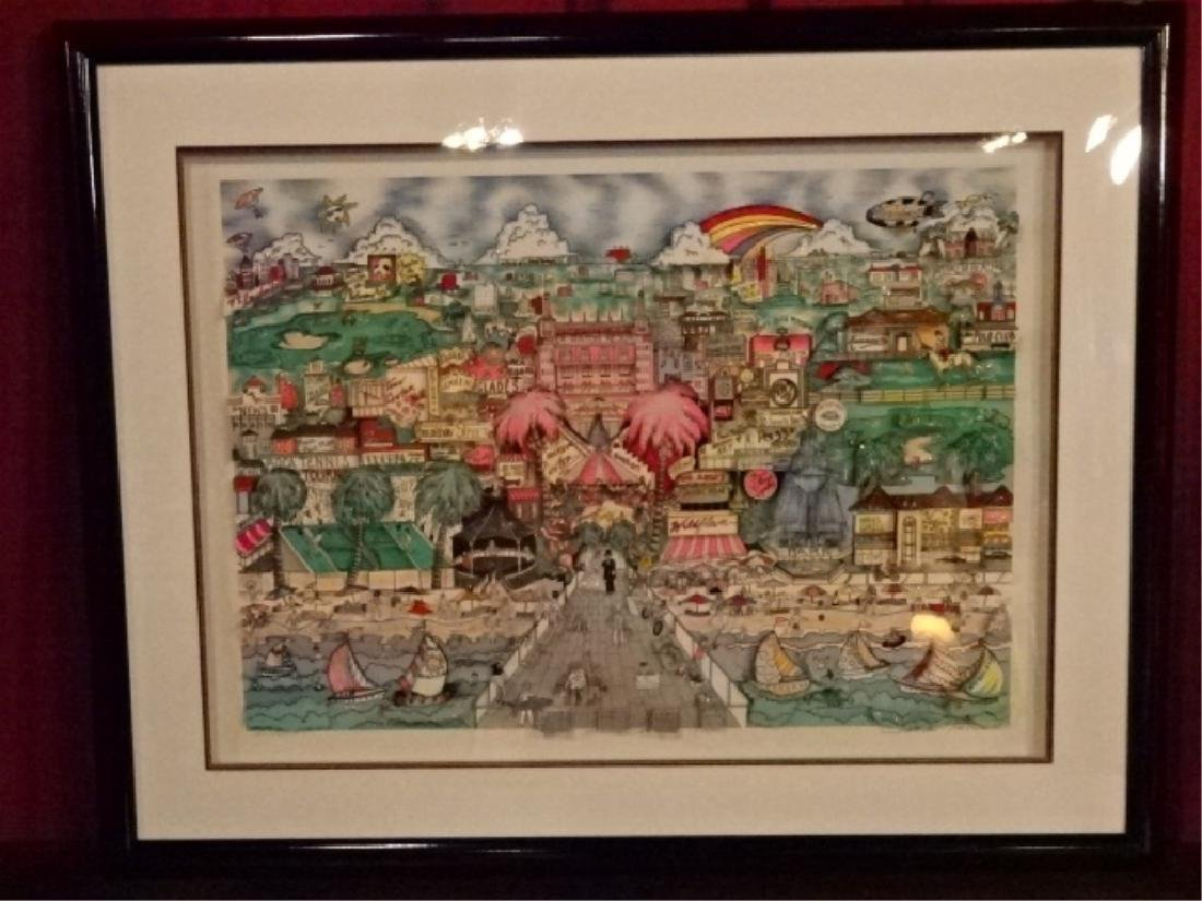 "CHARLES FAZZINO 3-D LITHOGRAPH, ""BEST OF BOCA"", LIMITED"