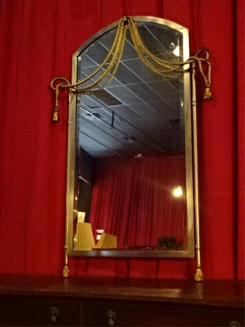 LA BARGE BRASS AND METAL MIRROR, MADE IN ITALY,