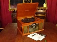 CROSLEY CR245 LP PLAYER / CD RECORDER, IN WOOD CASE,