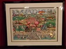 """CHARLES FAZZINO 3-D LITHOGRAPH, """"BEST OF BOCA"""", LIMITED"""