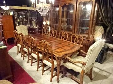 SPECTACULAR HENREDON DINING SET, TABLE AND 10 CHAIRS (2