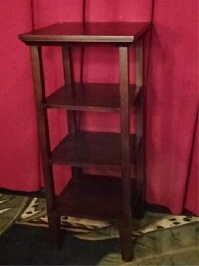 Wood Etagere / Bookcase, Dark Finish, Very Good