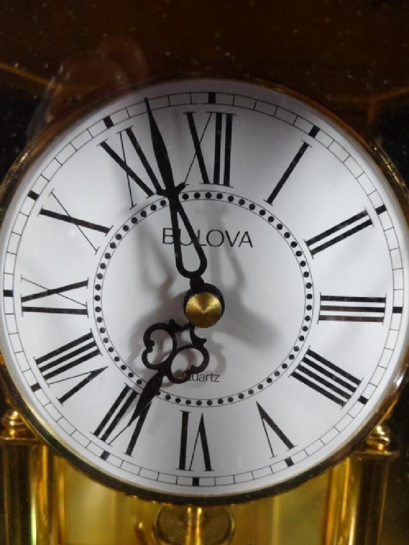 "BULOVA FESTIVITY ANNIVERSARY CLOCK, APPROX 10"" X 9"" - 3"