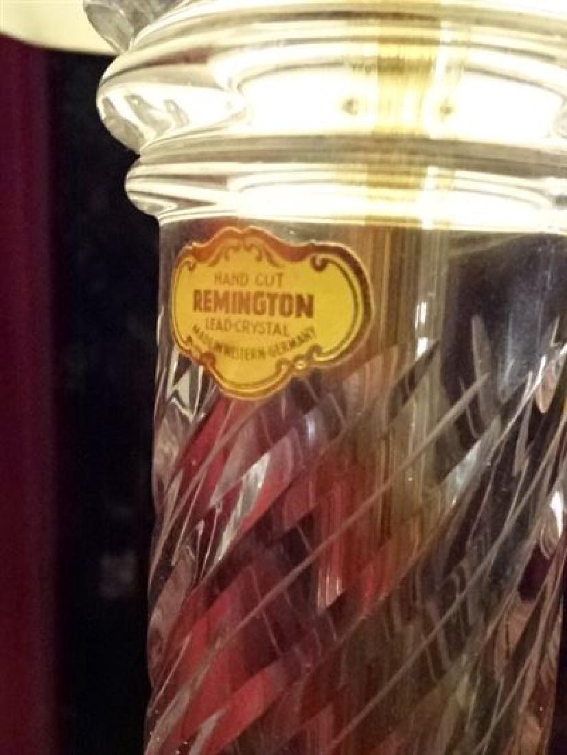 VINTAGE REMINGTON LEAD CRYSTAL LAMP, MADE IN WEST - 3