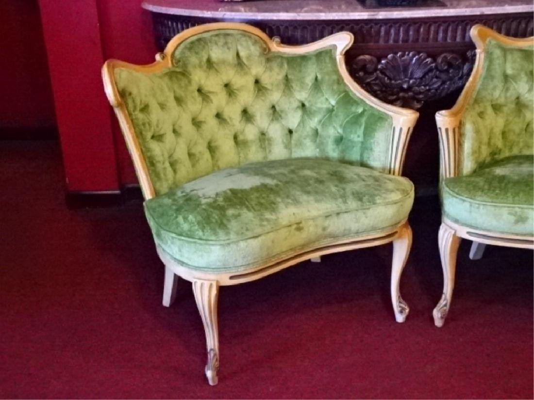 PAIR HOLLYWOOD REGENCY STYLE ARMCHAIRS, MID CENTURY, - 3
