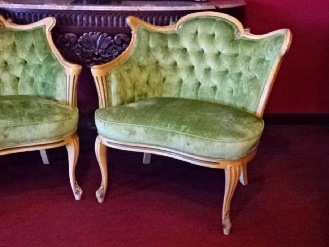 PAIR HOLLYWOOD REGENCY STYLE ARMCHAIRS, MID CENTURY, - 4