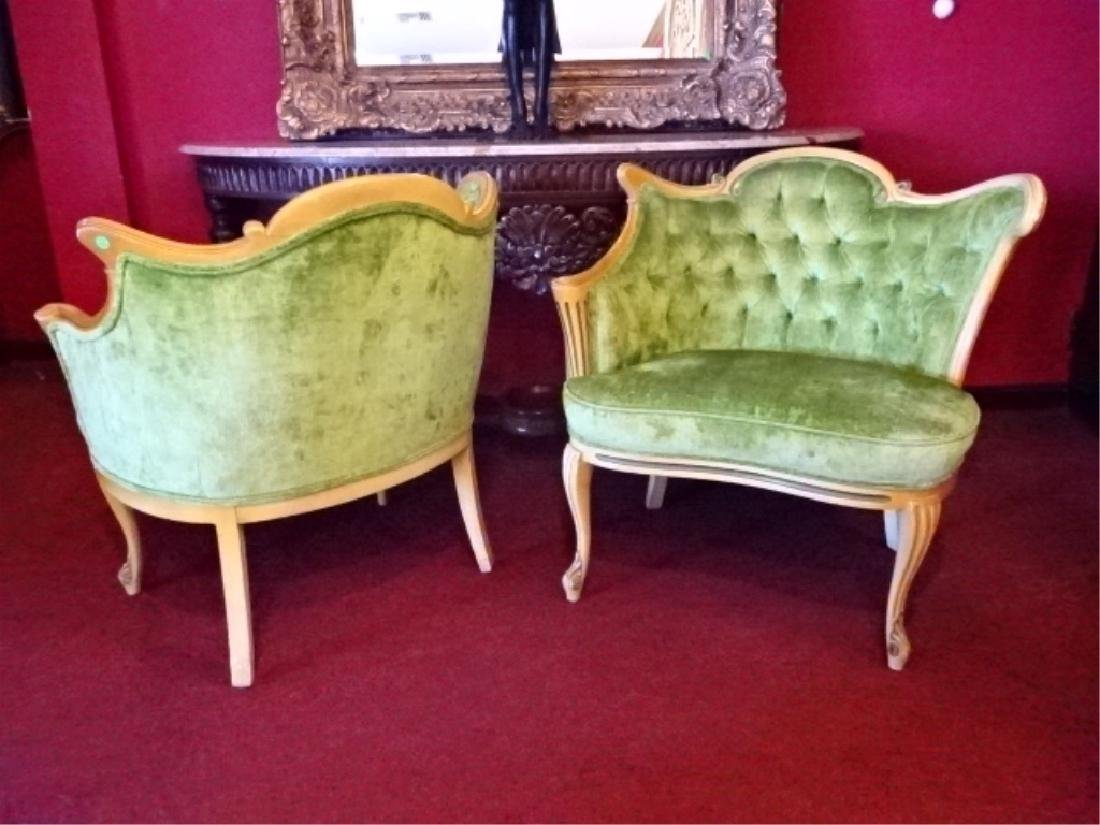 PAIR HOLLYWOOD REGENCY STYLE ARMCHAIRS, MID CENTURY, - 7