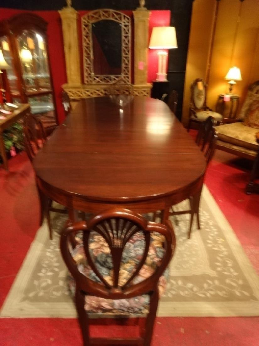 7 PC VINTAGE SHERATON STYLE DINING SET, EXTENSION TABLE - 2