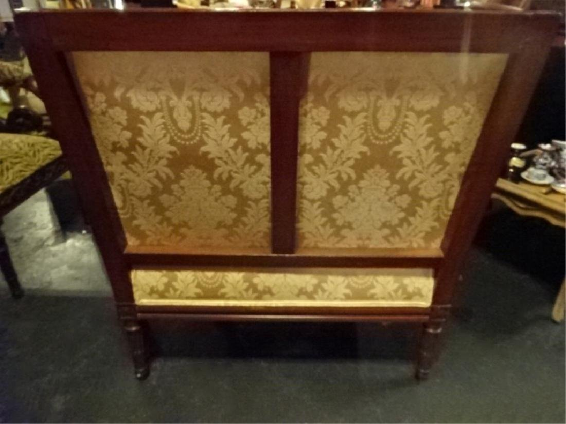 LOUIS XVI STYLE DOUBLE ARMCHAIR, GOLD UPHOLSTERY, VERY - 5
