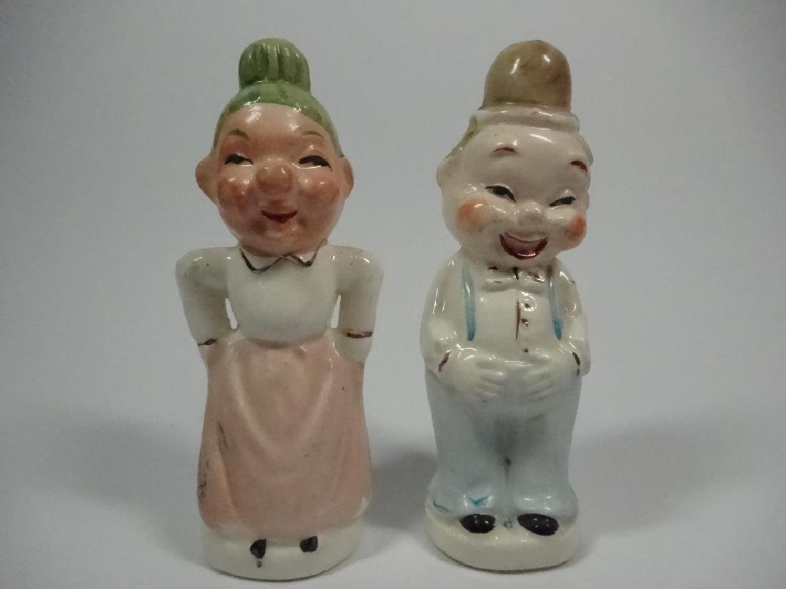VINTAGE JAPANESE SALT & PEPPER SHAKERS, TWO FACED