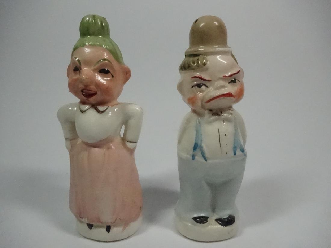 VINTAGE JAPANESE SALT & PEPPER SHAKERS, TWO FACED - 3