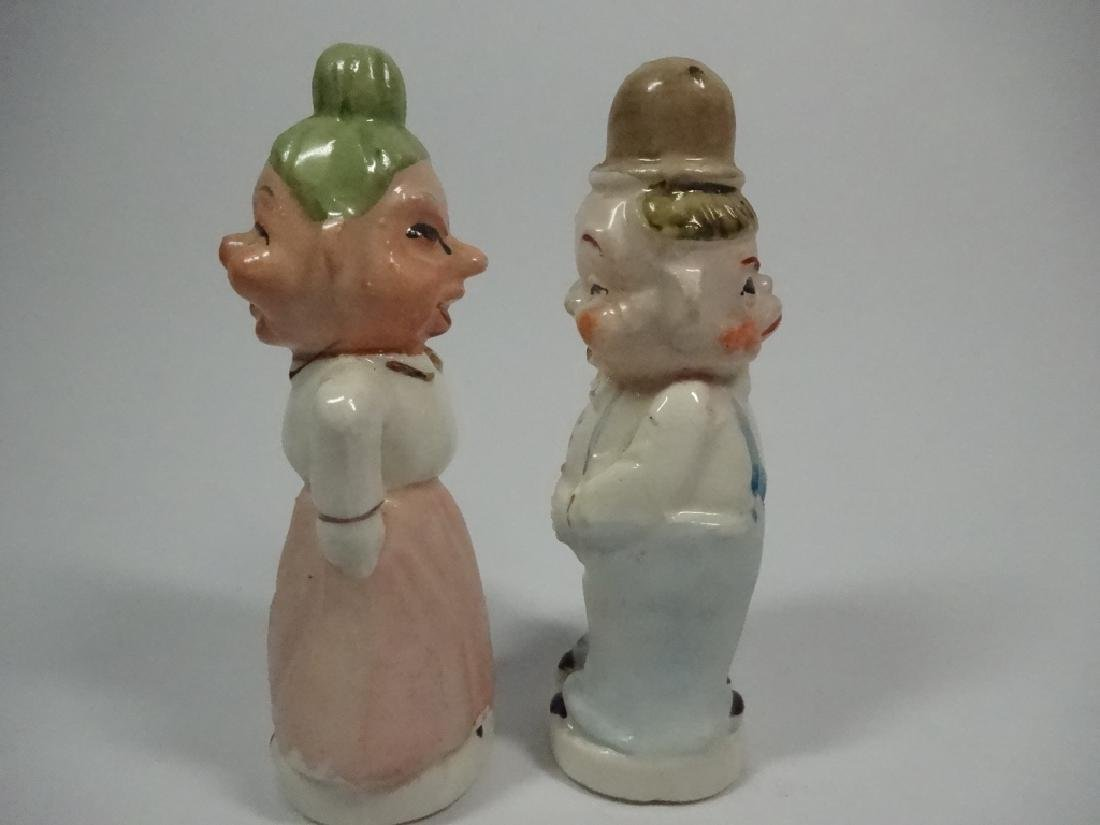 VINTAGE JAPANESE SALT & PEPPER SHAKERS, TWO FACED - 4
