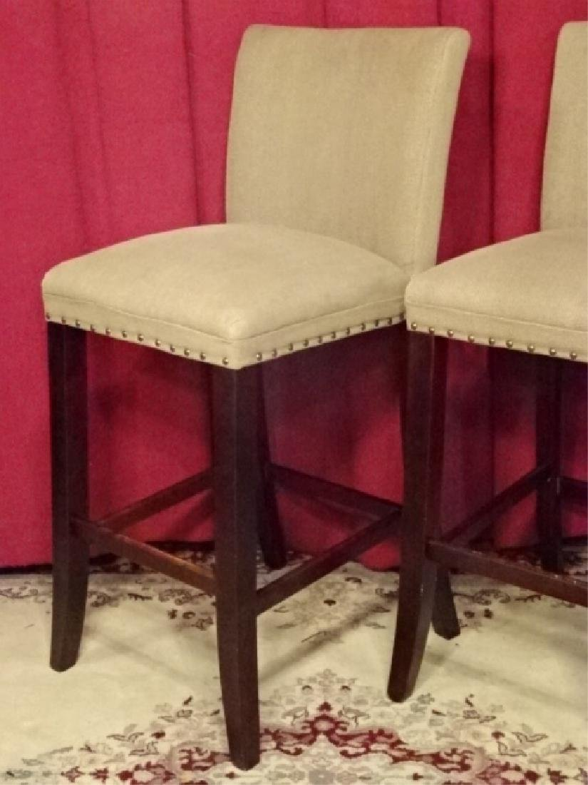 PAIR CONTEMPORARY BARSTOOLS, COUNTER HEIGHT, TAUPE - 2