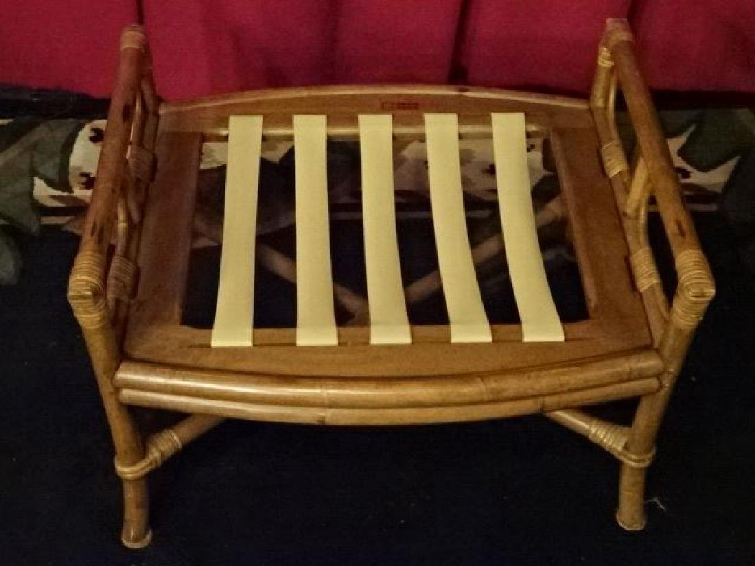 PAIR FICKS REED BAMBOO OTTOMANS, WITH FICKS REED - 5