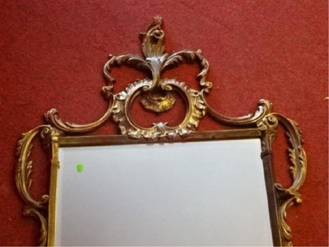 "ROCOCO GILT WOOD MIRROR, VERY GOOD CONDITION, 53""H X - 2"