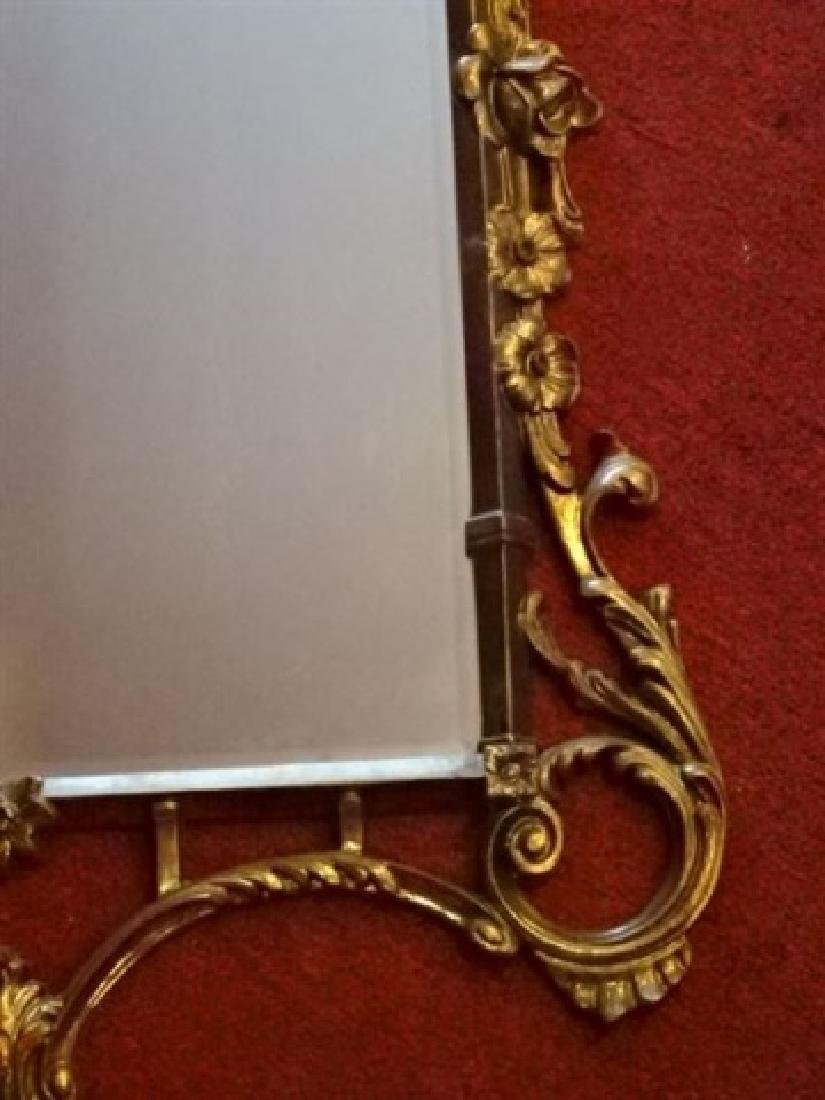 "ROCOCO GILT WOOD MIRROR, VERY GOOD CONDITION, 53""H X - 3"