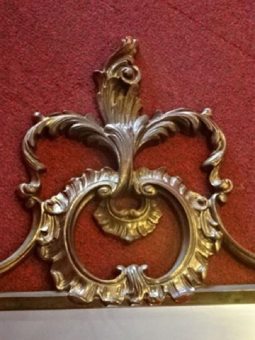 "ROCOCO GILT WOOD MIRROR, VERY GOOD CONDITION, 53""H X - 5"