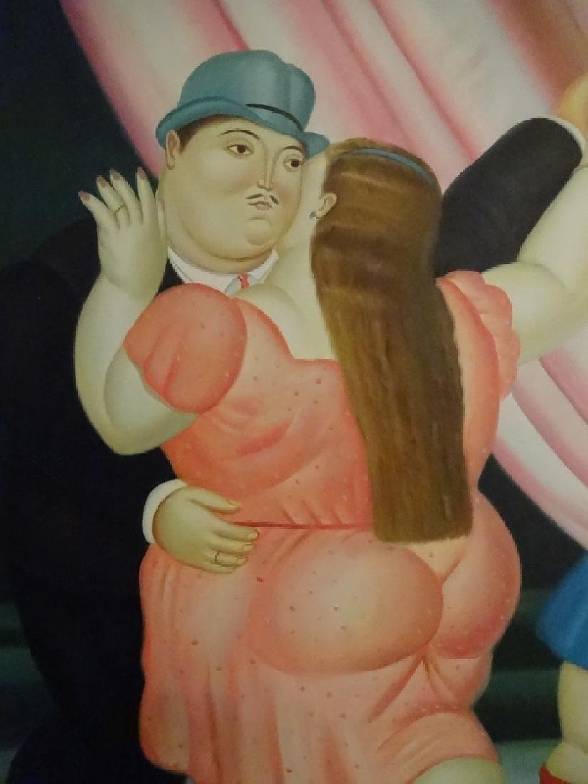BOTERO STYLE PAINTING ON CANVAS, MAN AND WOMAN, SIGNED - 2
