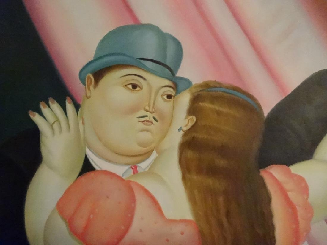 BOTERO STYLE PAINTING ON CANVAS, MAN AND WOMAN, SIGNED - 3