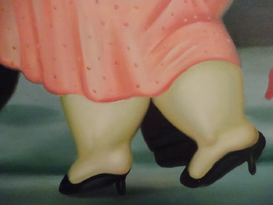 BOTERO STYLE PAINTING ON CANVAS, MAN AND WOMAN, SIGNED - 4