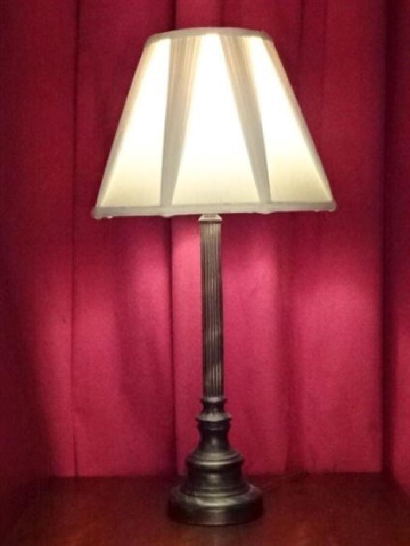 NEOCLASSICAL METAL COLUMN LAMP, BRONZE FINISH METAL
