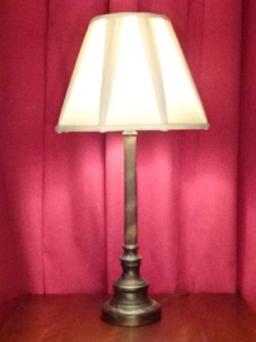 NEOCLASSICAL METAL COLUMN LAMP, BRONZE FINISH METAL - 2