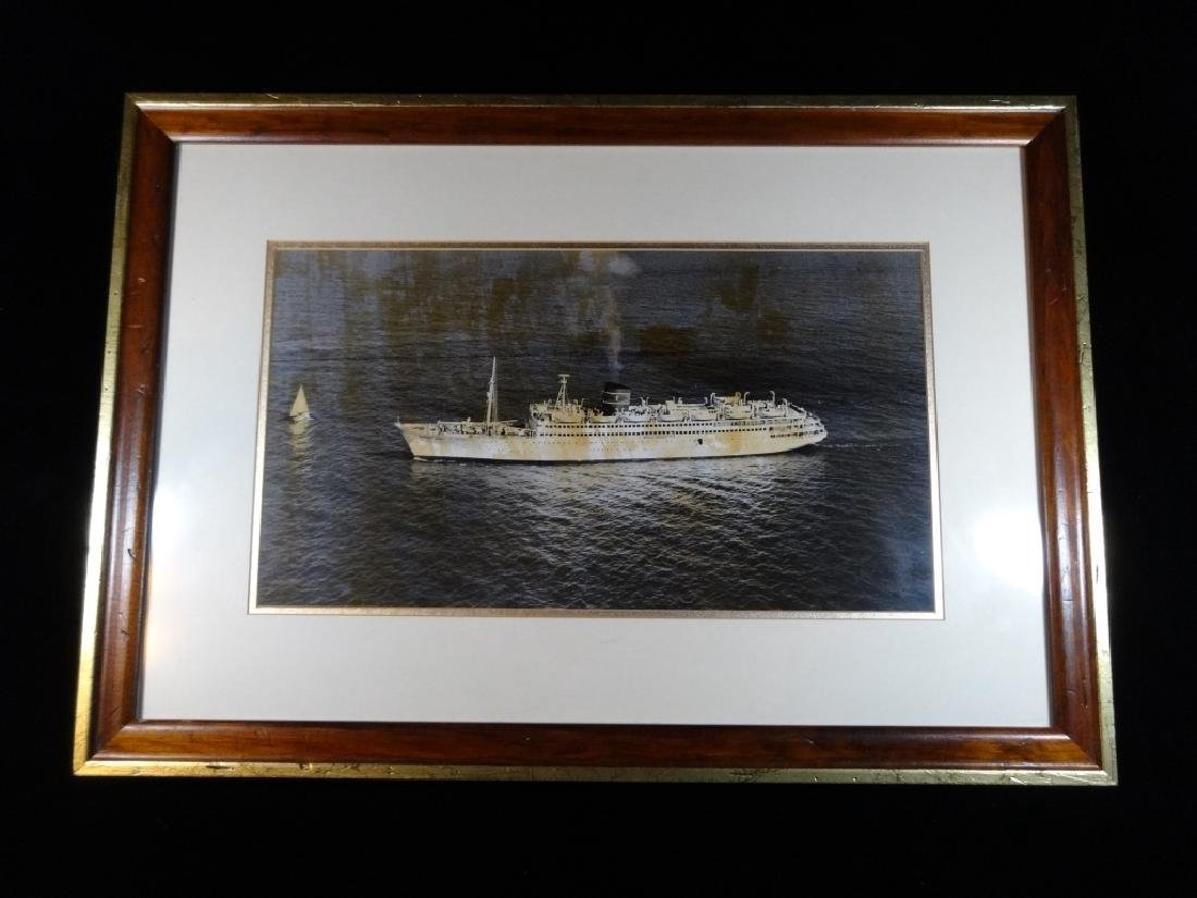 VINTAGE PHOTOGRAPH OF OCEAN LINER BAHAMA STAR, MARITIME