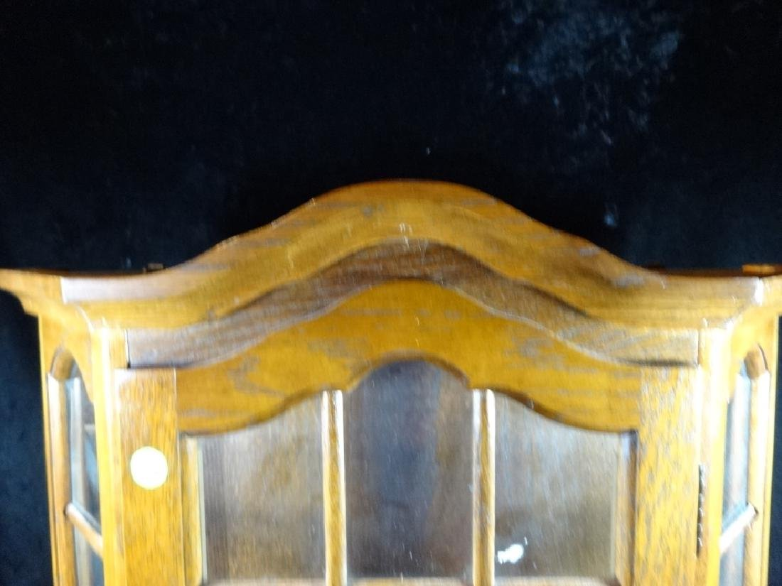 "WOODEN DISPLAY CABINET, WALL MOUNT, APPROX 20"" X 21"" - 2"