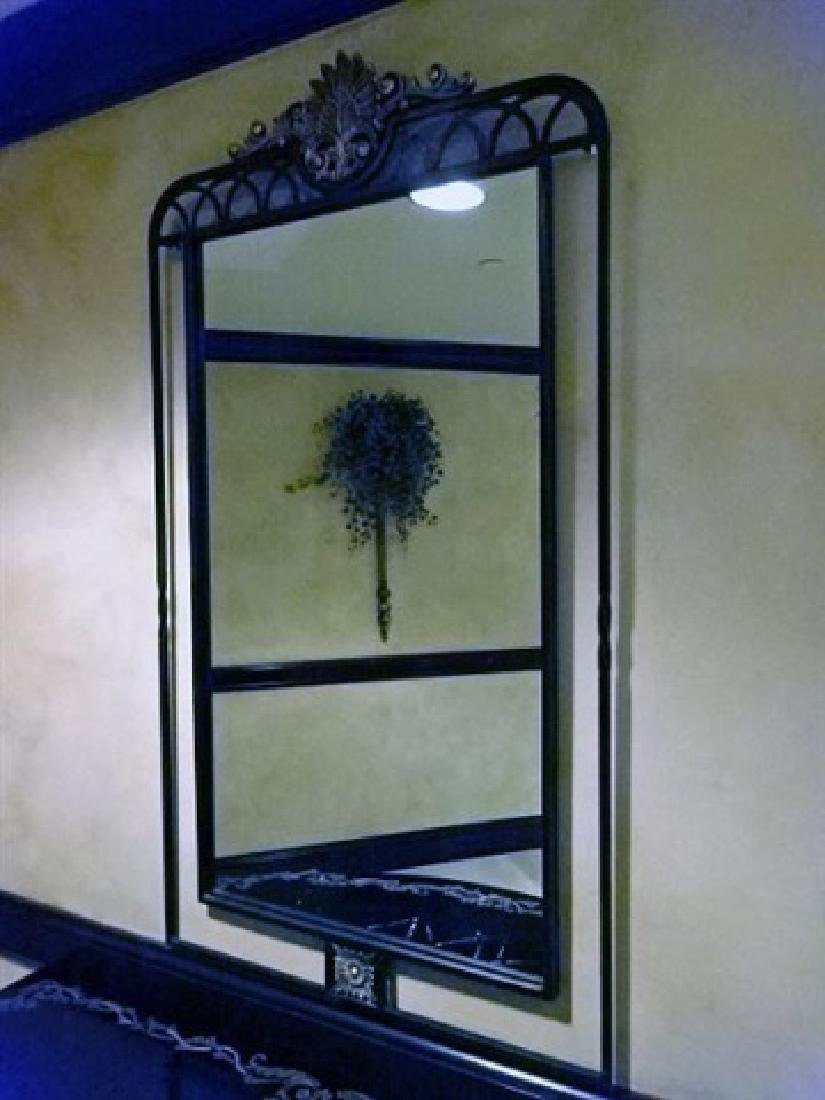 GILT METAL WALL MIRROR, FOLIATE DESIGNS, VERY GOOD