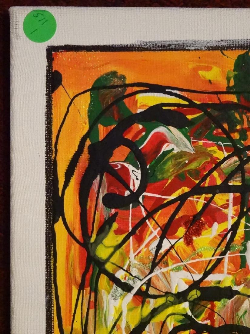 VIRGINIA BUSCEMI ABSTRACT PAINTING ON CANVAS, MULTI - 5