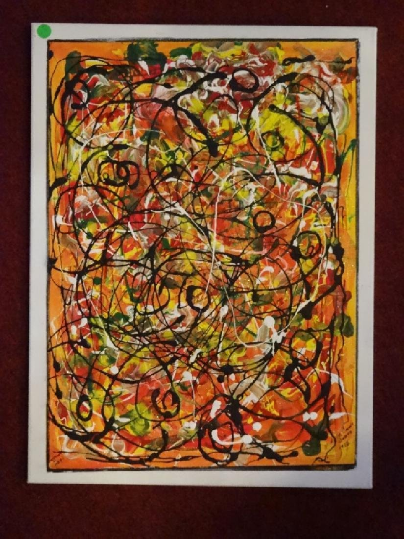 VIRGINIA BUSCEMI ABSTRACT PAINTING ON CANVAS, MULTI - 6