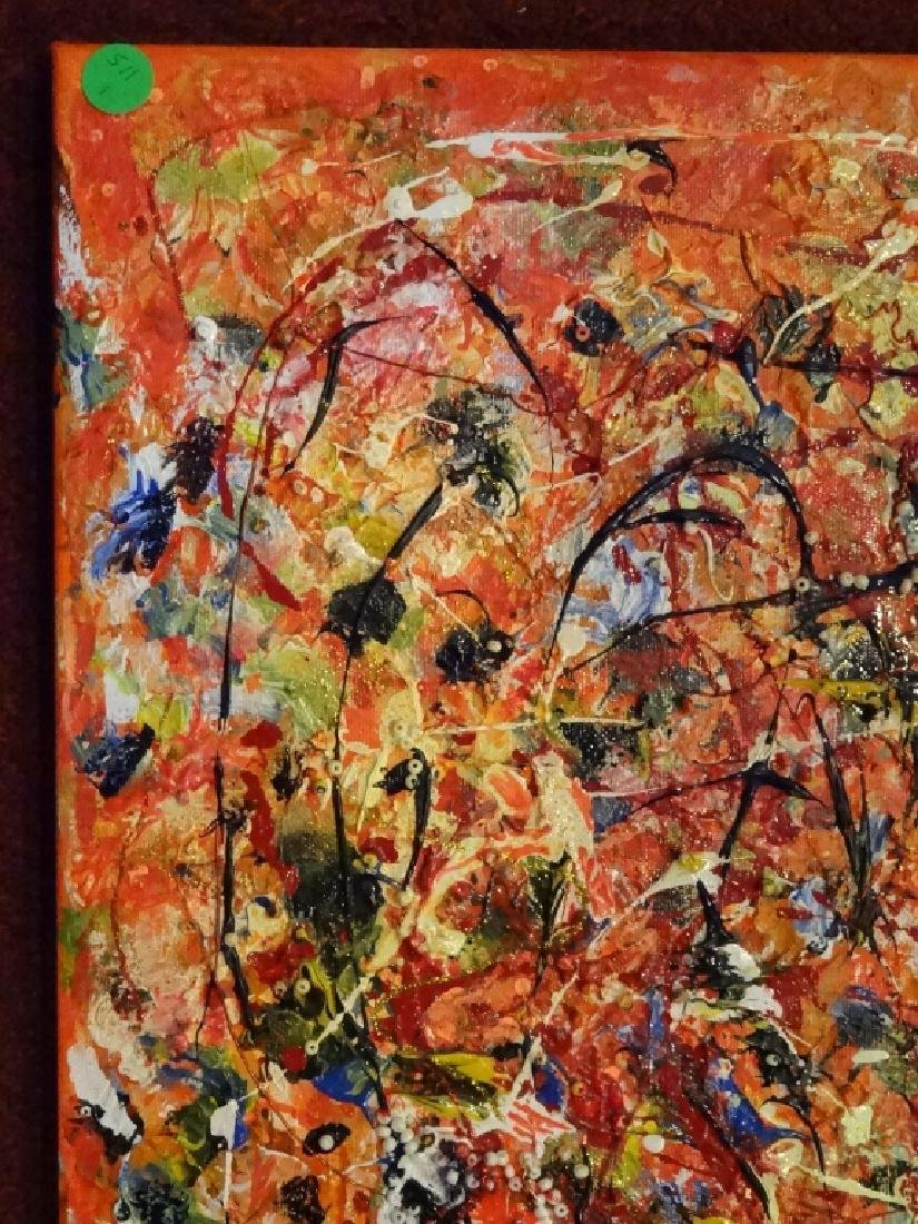 VIRGINIA BUSCEMI ABSTRACT PAINTING ON CANVAS, ORANGE - 3